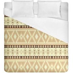 Fancy Tribal Border Pattern Beige Duvet Cover Single Side (KingSize)