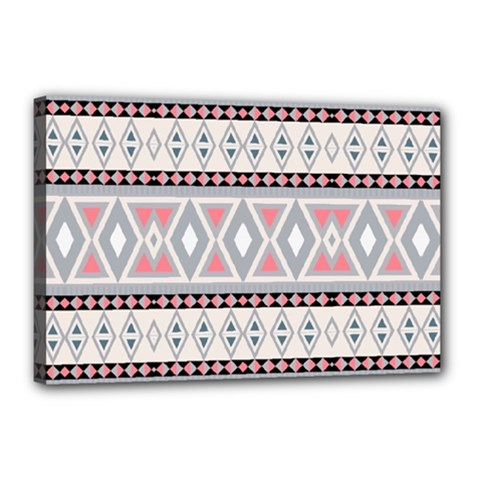 Fancy Tribal Border Pattern Soft Canvas 18  X 12  by ImpressiveMoments