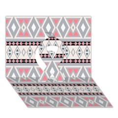 Fancy Tribal Border Pattern Soft Ribbon 3d Greeting Card (7x5)
