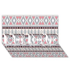 Fancy Tribal Border Pattern Soft Believe 3d Greeting Card (8x4)  by ImpressiveMoments