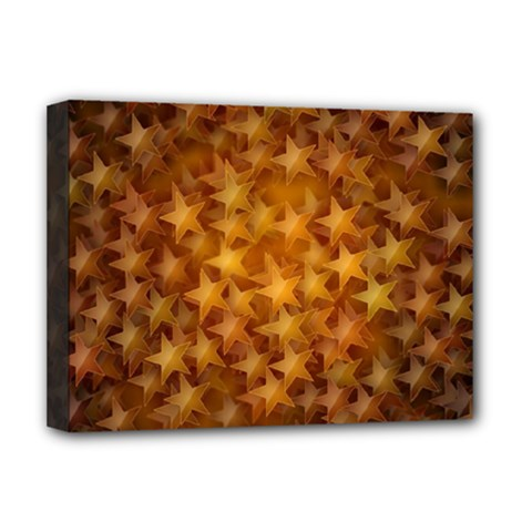 Gold Stars Deluxe Canvas 16  X 12   by KirstenStar