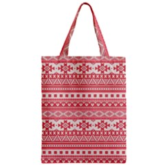 Fancy Tribal Borders Pink Zipper Classic Tote Bags