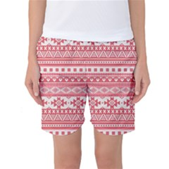 Fancy Tribal Borders Pink Women s Basketball Shorts by ImpressiveMoments
