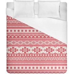 Fancy Tribal Borders Pink Duvet Cover Single Side (double Size) by ImpressiveMoments