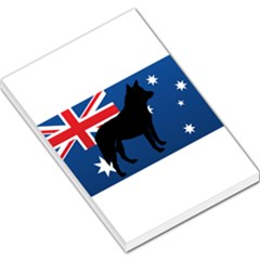 Australian Cattle Dog Silhouette on Australia Flag Large Memo Pads by TailWags