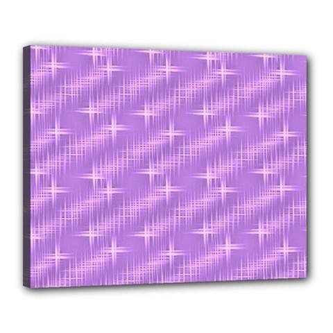 Many Stars, Lilac Canvas 20  X 16