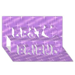 Many Stars, Lilac Best Friends 3D Greeting Card (8x4)  by ImpressiveMoments