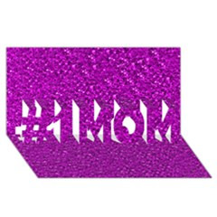 Sparkling Glitter Hot Pink #1 Mom 3d Greeting Cards (8x4)  by ImpressiveMoments