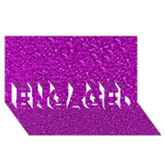 Sparkling Glitter Hot Pink Engaged 3d Greeting Card (8x4)  by ImpressiveMoments