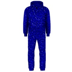 Sparkling Glitter Inky Blue Hooded Jumpsuit (men)  by ImpressiveMoments