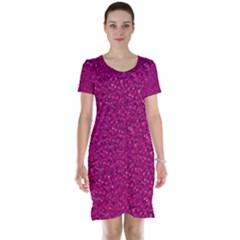 Sparkling Glitter Pink Short Sleeve Nightdresses