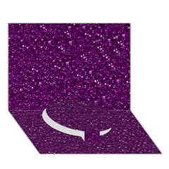 Sparkling Glitter Plum Circle Bottom 3d Greeting Card (7x5)  by ImpressiveMoments
