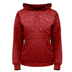 Sparkling Glitter Red Women s Pullover Hoodies by ImpressiveMoments