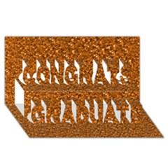 Sparkling Glitter Terra Congrats Graduate 3d Greeting Card (8x4)  by ImpressiveMoments