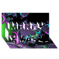 Fractal Dream Merry Xmas 3d Greeting Card (8x4)  by ImpressiveMoments