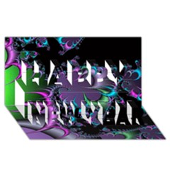Fractal Dream Happy New Year 3d Greeting Card (8x4)  by ImpressiveMoments