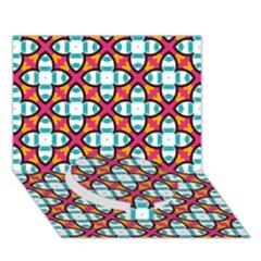 Pattern 1284 Circle Bottom 3d Greeting Card (7x5)  by creativemom