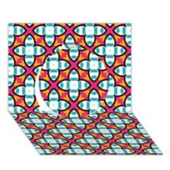 Pattern 1284 Circle 3d Greeting Card (7x5)  by creativemom