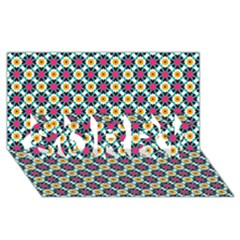 Cute Abstract Pattern Background Sorry 3d Greeting Card (8x4)  by creativemom