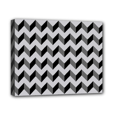 Modern Retro Chevron Patchwork Pattern  Canvas 10  x 8  by creativemom