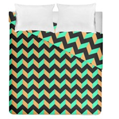 Modern Retro Chevron Patchwork Pattern Duvet Cover (full/queen Size)