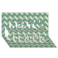 Modern Retro Chevron Patchwork Pattern Best Friends 3d Greeting Card (8x4)  by creativemom