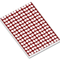 Red And White Leaf Pattern Large Memo Pads