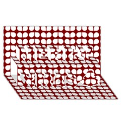 Red And White Leaf Pattern Merry Xmas 3d Greeting Card (8x4)  by creativemom