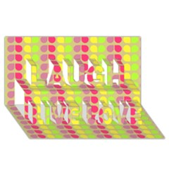 Colorful Leaf Pattern Laugh Live Love 3d Greeting Card (8x4)  by creativemom