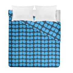 Blue Gray Leaf Pattern Duvet Cover (twin Size) by creativemom