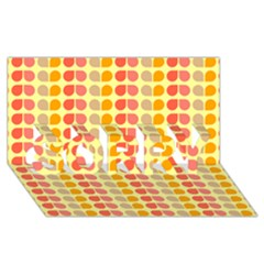Colorful Leaf Pattern Sorry 3d Greeting Card (8x4)  by creativemom