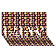 Cute Floral Pattern Party 3d Greeting Card (8x4)