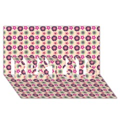 Cute Floral Pattern Best Sis 3d Greeting Card (8x4)  by creativemom