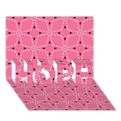 Cute Pretty Elegant Pattern Hope 3d Greeting Card (7x5)