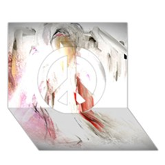 Abstract Angel In White Peace Sign 3d Greeting Card (7x5)  by theunrulyartist