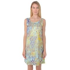 Abstract Earth Tones With Blue  Sleeveless Satin Nightdresses by theunrulyartist