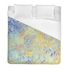 Abstract Earth Tones With Blue  Duvet Cover Single Side (twin Size) by theunrulyartist