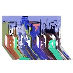 Abstract City Design Best Bro 3d Greeting Card (8x4)  by theunrulyartist
