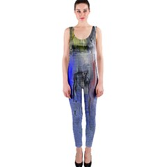 Hazy City Abstract Design Onepiece Catsuits by theunrulyartist