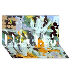 Abstract Country Garden Best Bro 3d Greeting Card (8x4)  by theunrulyartist
