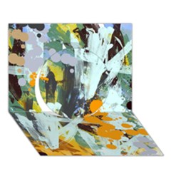 Abstract Country Garden Circle 3d Greeting Card (7x5)  by theunrulyartist