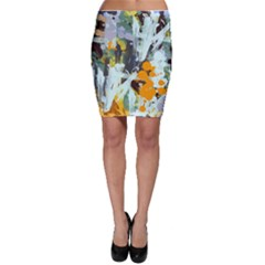 Abstract Country Garden Bodycon Skirts