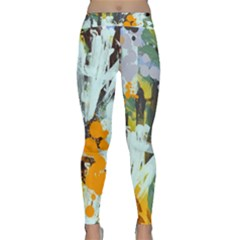 Abstract Country Garden Yoga Leggings by theunrulyartist