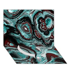 Fractal Marbled 05 Circle Bottom 3D Greeting Card (7x5)  by ImpressiveMoments