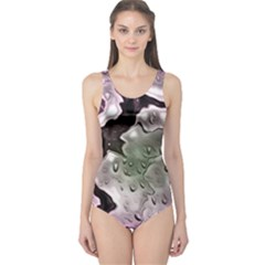 Wet Metal Pink Women s One Piece Swimsuits by ImpressiveMoments