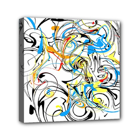 Abstract Fun Design Mini Canvas 6  X 6  by theunrulyartist