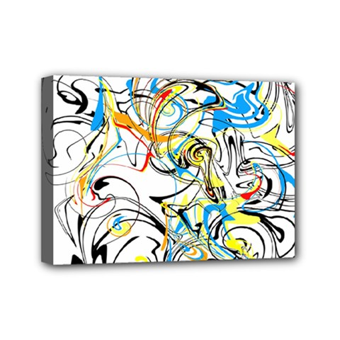 Abstract Fun Design Mini Canvas 7  X 5  by theunrulyartist