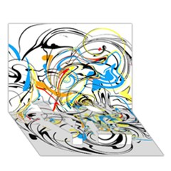 Abstract Fun Design Love Bottom 3d Greeting Card (7x5)  by theunrulyartist