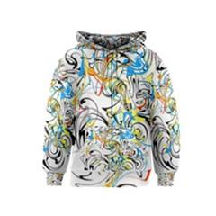 Abstract Fun Design Kids Zipper Hoodies