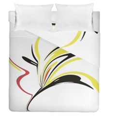 Abstract Flower Design Duvet Cover (full/queen Size) by theunrulyartist
